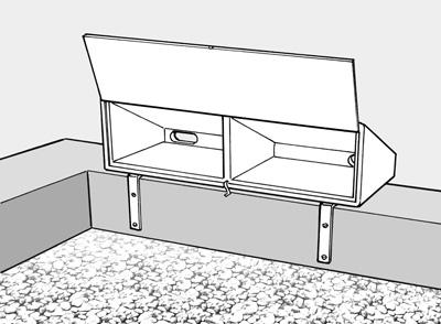 mauersegler keilkasten drempelkasten schwegler natur. Black Bedroom Furniture Sets. Home Design Ideas